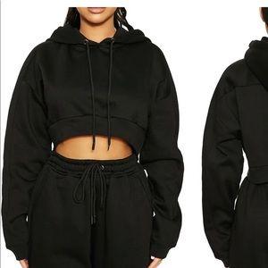 Naked Wardrobe Black Sweatshirt NWT
